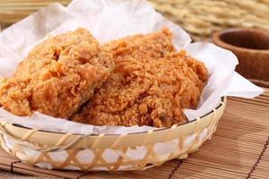 fried chicken in breast.
