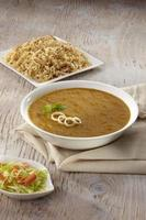Dhansak curry with brown rice, India