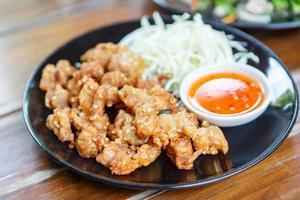 pollo tendón frito con foto