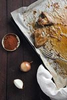Roast chicken wings photo