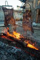Brazilian Barbecue also known as Churrasco made by Gauchos, Braz photo