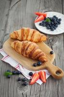 Fresh croissants photo