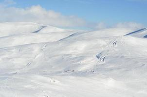 paisaje de invierno en glenshee, escocia foto