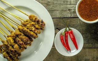 salsa satay y maní foto