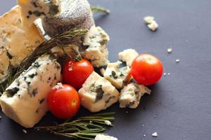 Roquefort cheese composition photo