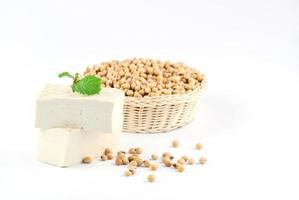 tofu and soy beans photo
