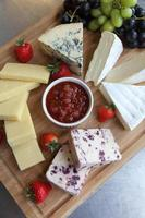 Mixed cheese platter photo