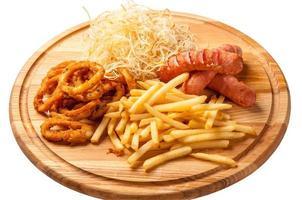 gebakken fast food - stock beeld