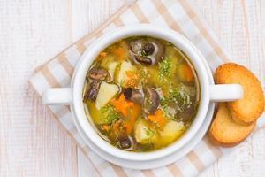 sopa de champiñones