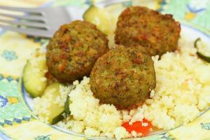 falafel, close-up