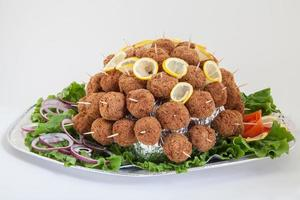 Party platter with meatballs. Food catering