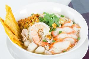 Combination Noodle contains many thai food