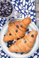 croissant with berry photo