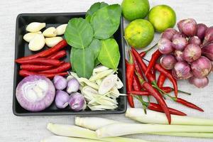 comida tailandesa y curry foto