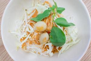 Thai rice vermicelli with curry photo
