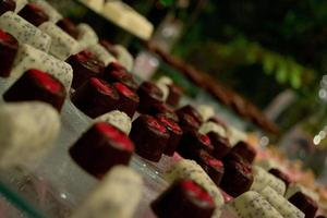 Chocolate sweets with depth of field