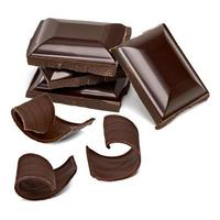 Chocolate tablets with curls