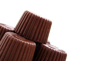 chocolate redondeado desde la esquina foto