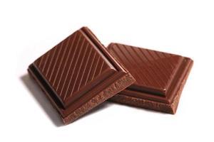 mucchio di pezzi di cioccolato