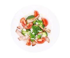 Broccoli salad with cheese. photo