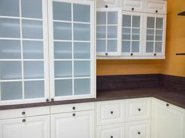 armarios de la cocina. foto