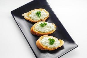 Bruschetta - an Italian appetizer dish photo