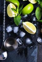 Ingredients for summer mojito
