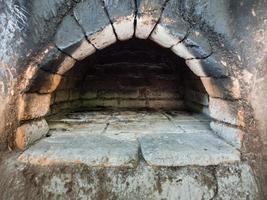 Empty wood oven