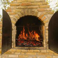 Brick Fireplace for BBQ photo