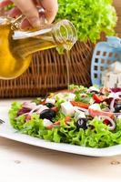 Fresh Greek salad photo