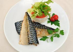 Baked mackerel photo