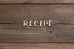 Recipes word