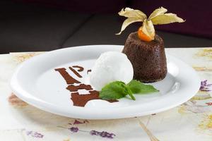 Stylized Ice cream on white plate