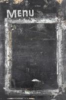 menu do quadro-negro