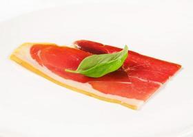 Slice of prosciutto crudo