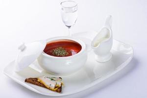borscht con remolacha