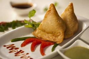 Samosa- An Indain fried,baked pastry.