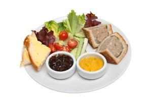 Pork pie and salad photo