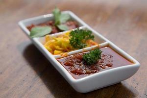 Sambal sauces. photo