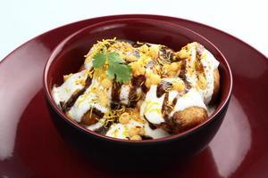 comida india dahi vada foto