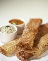 Rava dosa in plate, South Indian snack, India