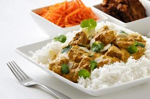 Lamb curry with rice photo