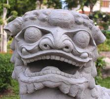chinese lion statue in Wat Arun