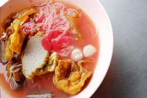 Yong tau foo - Asian noodle in the red soup