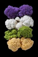 Cauliflowers rainbow photo