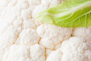 fresh white cauliflower isolated on white background photo