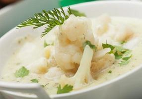 Cauliflower soup photo