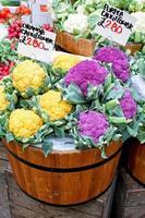 Colorful cauliflowers photo