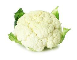 cauliflower on the white background photo