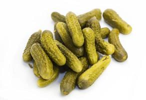 Salted cucumbers photo